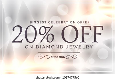 premium jewelry style sale banner vector template