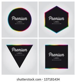 premium label icon sign symbol colorful vector set editable