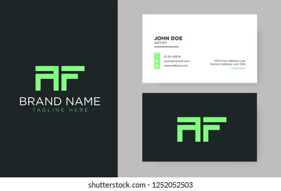 Premium letter AF logo with an elegant corporate identity template