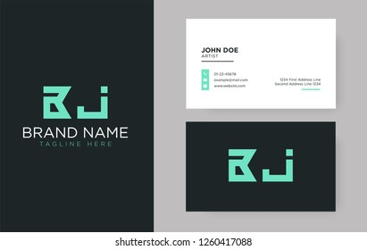Premium letter BJ logo with an elegant corporate identity template