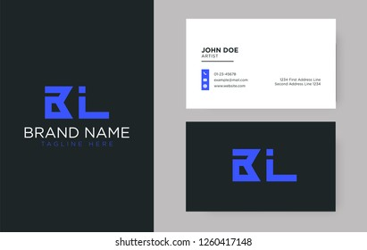 Premium letter BL logo with an elegant corporate identity template