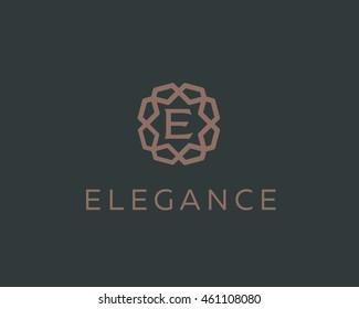 Premium letter E logo icon vector design. Luxury jewelry frame gem edge logotype. Print monogram initials stamp sign symbol.
