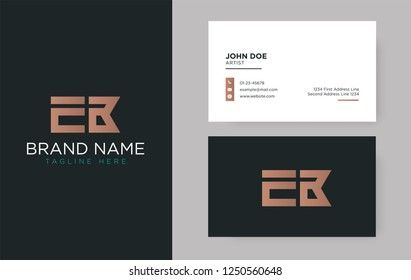 Premium letter EB logo with an elegant corporate identity template