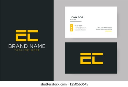 Premium letter EC logo with an elegant corporate identity template