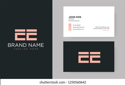 Premium letter EE logo with an elegant corporate identity template