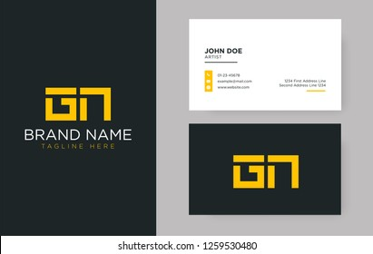 Premium letter GN logo with an elegant corporate identity template