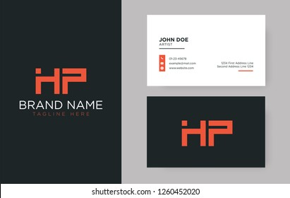 Premium letter HP logo with an elegant corporate identity template