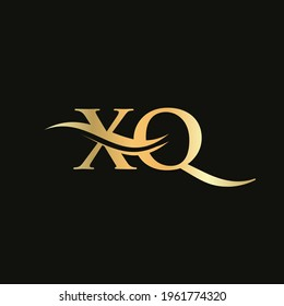 Premium Letter HX Logo Design with water wave concept. HX letter logo design with modern trendy