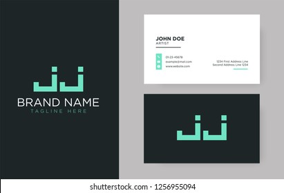 Premium letter JJ logo with an elegant corporate identity template