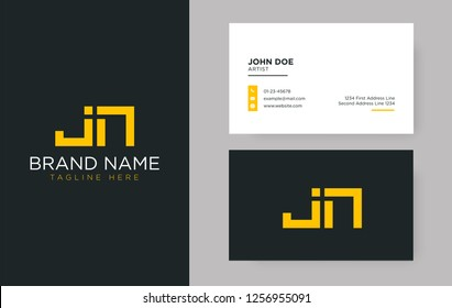 Premium letter JN logo with an elegant corporate identity template