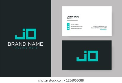Premium letter JO logo with an elegant corporate identity template