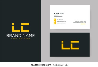 Premium letter LC logo with an elegant corporate identity template
