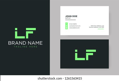 Premium letter LF logo with an elegant corporate identity template