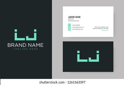 Premium letter LJ logo with an elegant corporate identity template