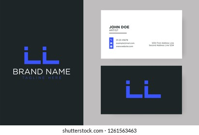 Premium letter LL logo with an elegant corporate identity template
