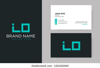 Premium letter LO logo with an elegant corporate identity template