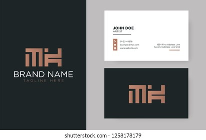 Premium letter MK logo with an elegant corporate identity template