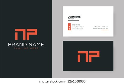 Premium letter NP logo with an elegant corporate identity template