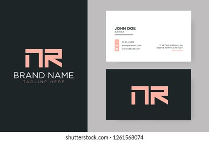 Premium letter NR logo with an elegant corporate identity template