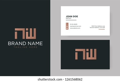 Premium letter NW logo with an elegant corporate identity template