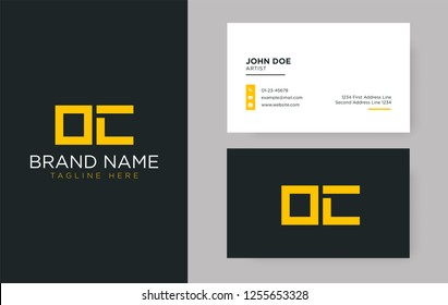 Premium letter OC logo with an elegant corporate identity template