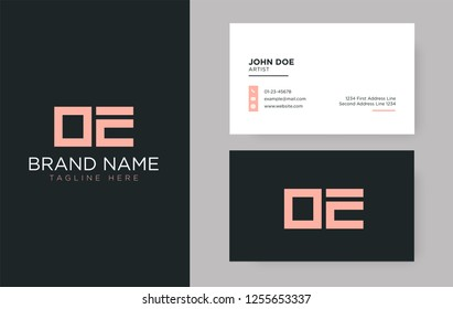Premium letter OE logo with an elegant corporate identity template