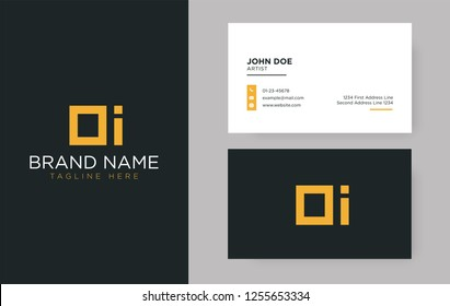 Premium letter OI logo with an elegant corporate identity template
