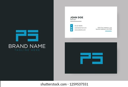 Premium letter PS logo with an elegant corporate identity template