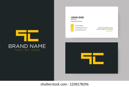 Premium letter QC logo with an elegant corporate identity template