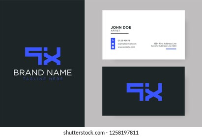 Premium letter QX logo with an elegant corporate identity template