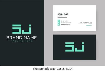 Premium letter SJ logo with an elegant corporate identity template