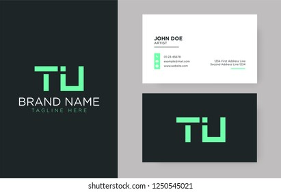 Premium letter TU logo with an elegant corporate identity template