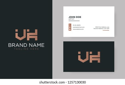 Premium letter VK logo with an elegant corporate identity template