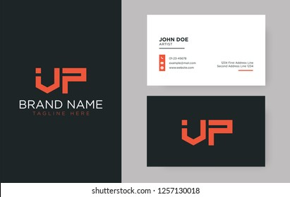 Premium letter VP logo with an elegant corporate identity template