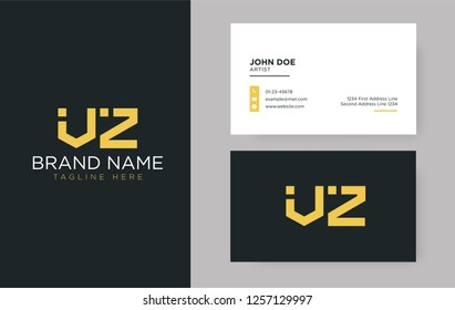 Premium letter VZ logo with an elegant corporate identity template