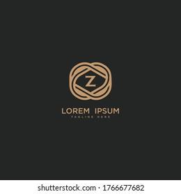 Premium letter Z logo icon design. Luxury jewelry frame gem edge logotype.