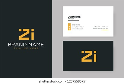 Premium letter ZI logo with an elegant corporate identity template