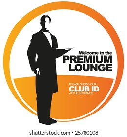 Premium lounge vector sticker