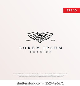 premium luxury eagle logo. modern icon, template design
