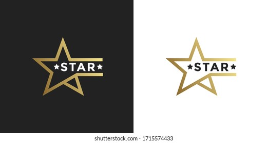 premium Luxury Gold Star logo designs template vector