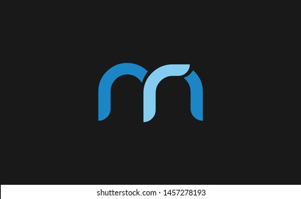 Premium mr or rm logo initial letter design template vector