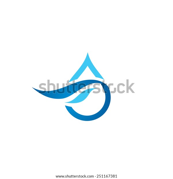Natural Brand Logo Badge Design: Premium Pure Water Abstract Sign Water Stock Vector