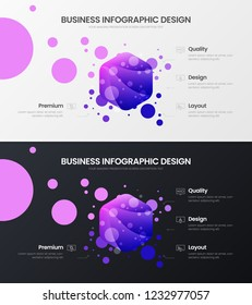 Premium quality 4 option hexahedron marketing analytics presentation vector illustration template set. Business data visualization design layout. Amazing colorful organic statistics infographic report