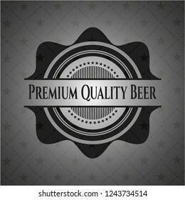 Premium Quality Beer dark emblem. Retro
