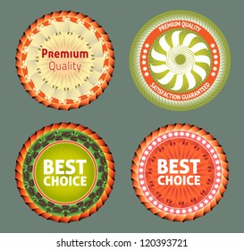 Premium quality and best choice label. eps 10