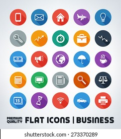 Premium Quality Flat Business And Office Icons