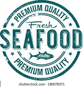 Premium Quality Fresh Seafood Stamp
