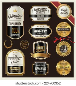 Premium quality gold and brown medal collection