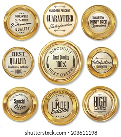 Premium quality golden metal badges