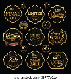 Premium Quality and Guarantee Labels with retro vintage styled design